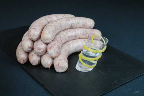 saucisses vodka citron