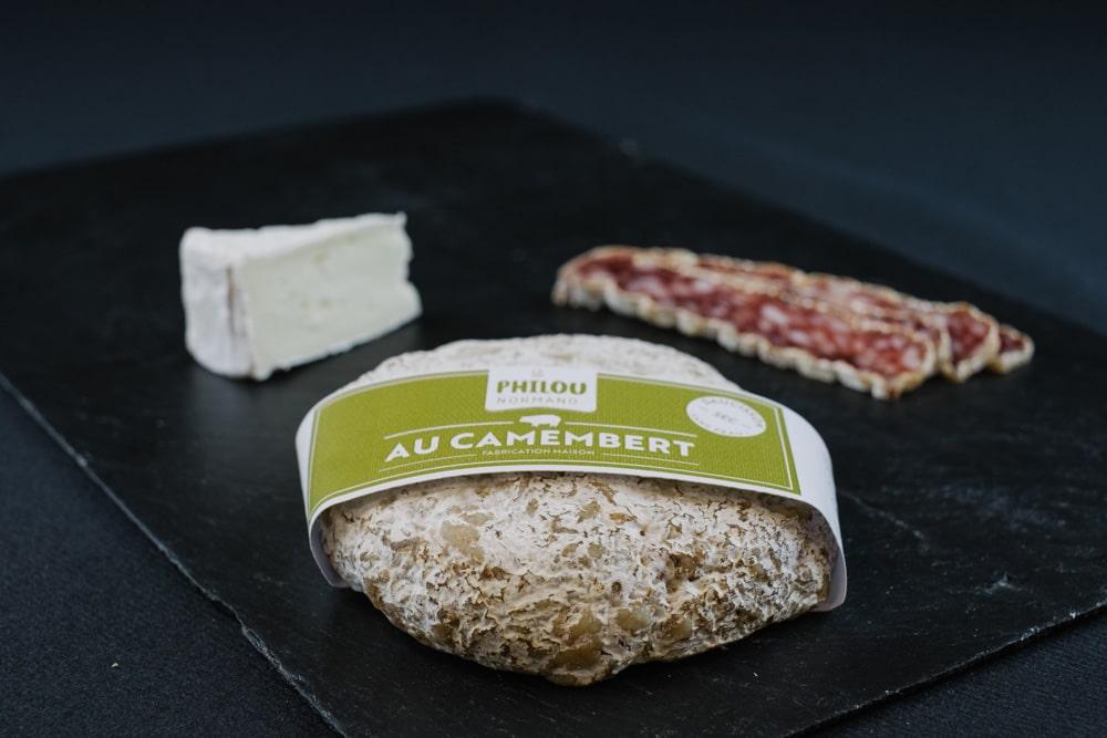 Saucisson sec au camembert de Normandie
