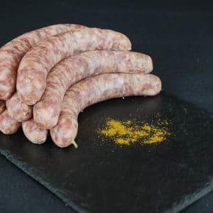 saucisses au bœuf curry